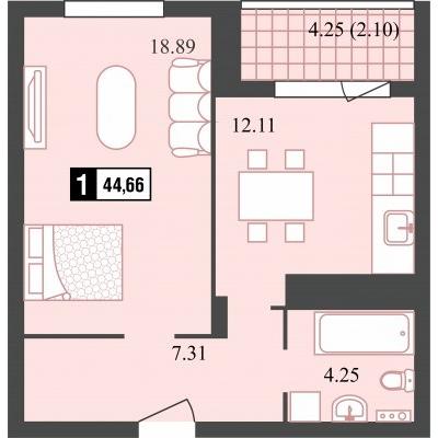 Однокомнатная квартира купить